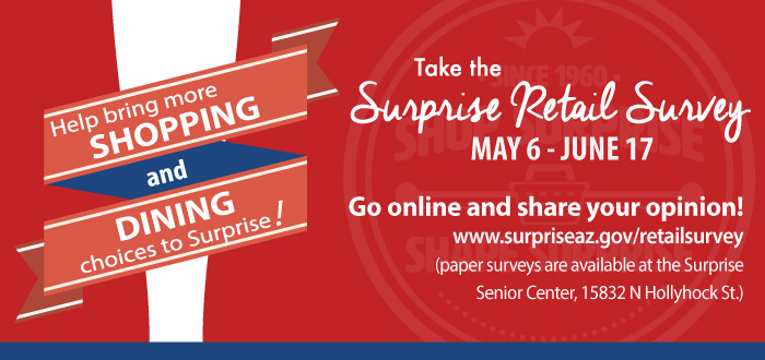 Help bring shopping, dining to Surprise through Retail Survey
