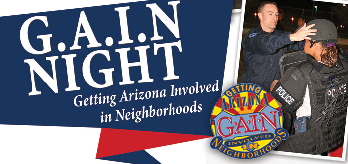 Surprise public safety officials announce G.A.I.N. Night 2015