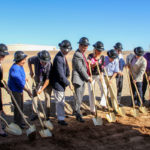 Surprise City Council and staff breaking ground