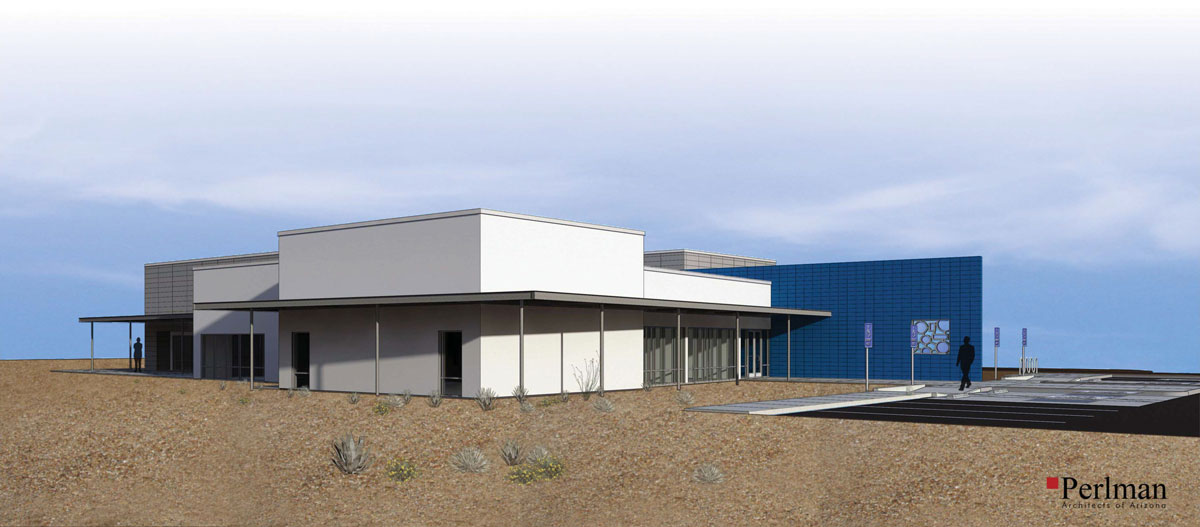 Design rendering of the Gateway Training Center
