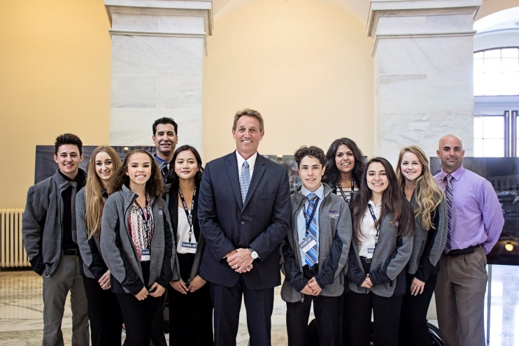Youth Services Administrator, Members of SYC and I with Senator Jeff Flake