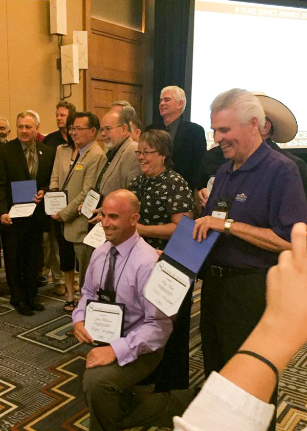 Councilman Willliams and Hall received service awards
