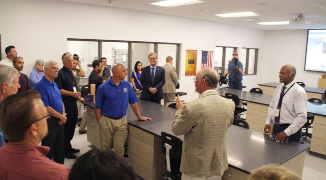 guests get inside tour of training center