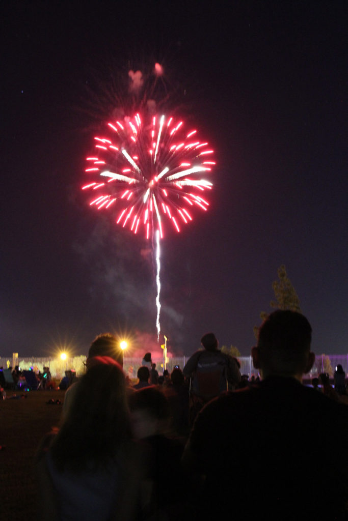 Fireworks lighting the sky at the 36th annual Surprise 4th of July celebration.