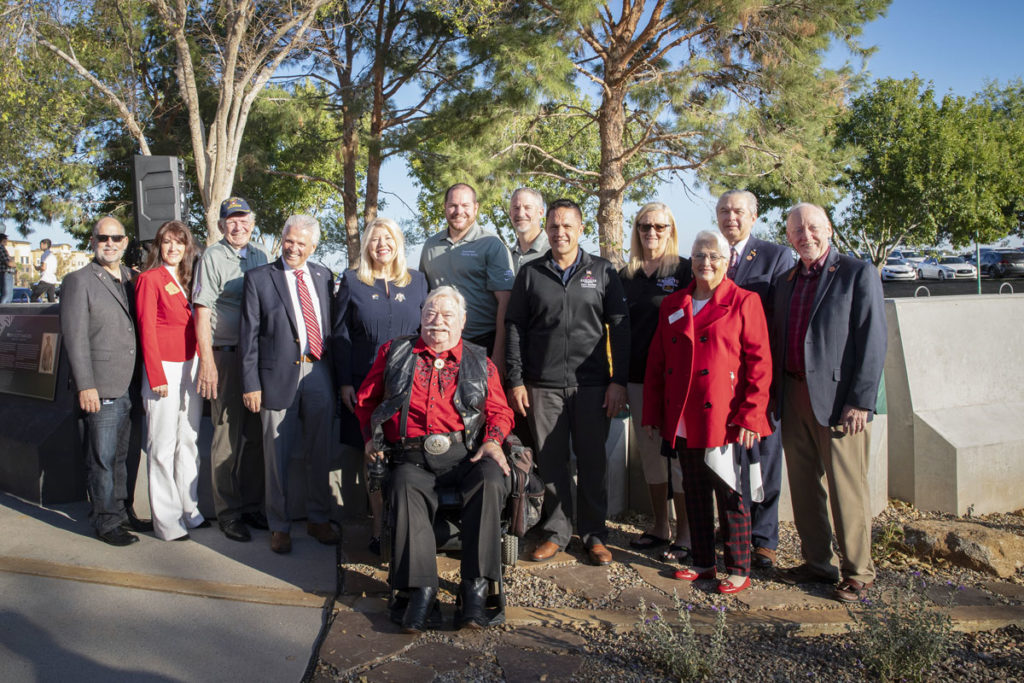 Surprise City Councilmembers at the newly opened Veterans Reflection Circle.