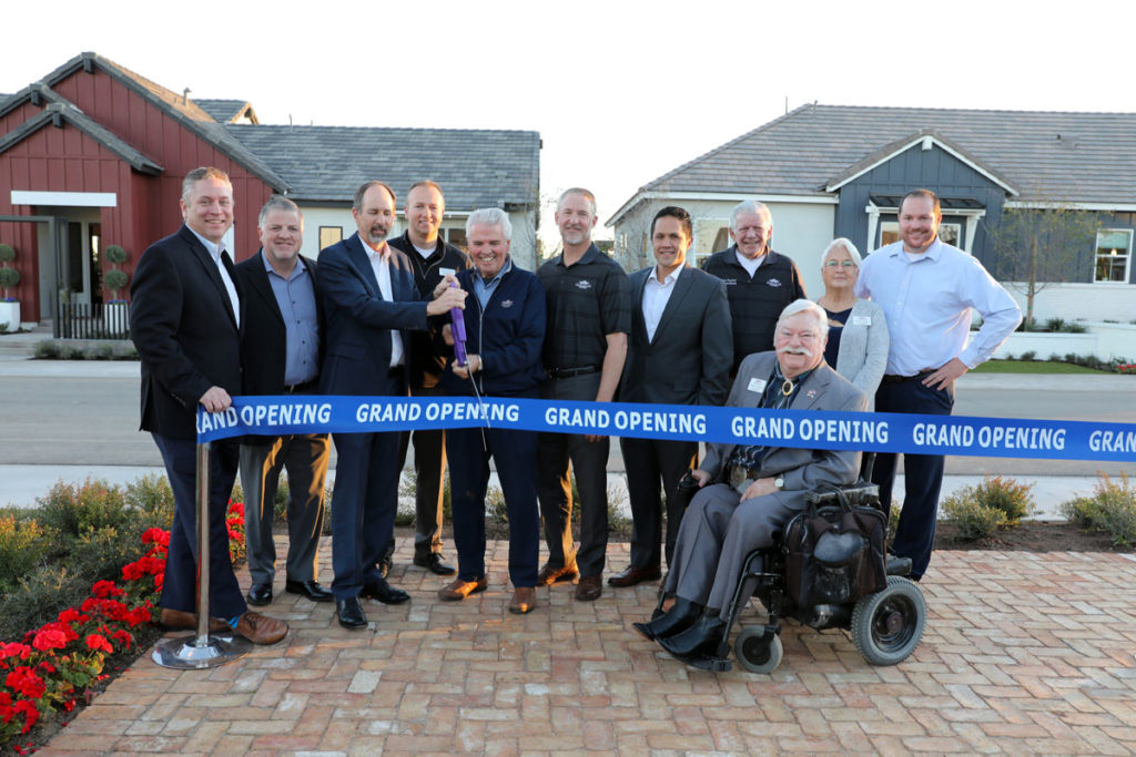 Mayor Hall, Surprise City Councilmembers and Toll Brothers developers cut a ribbon at the grand opening event.