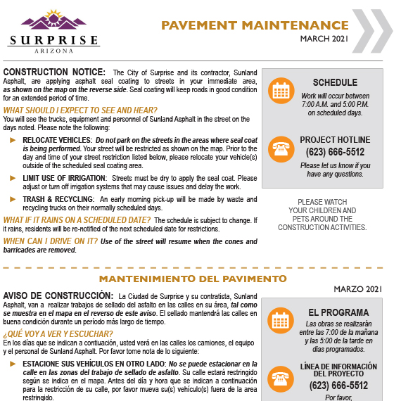 A pavement maintenance information document.