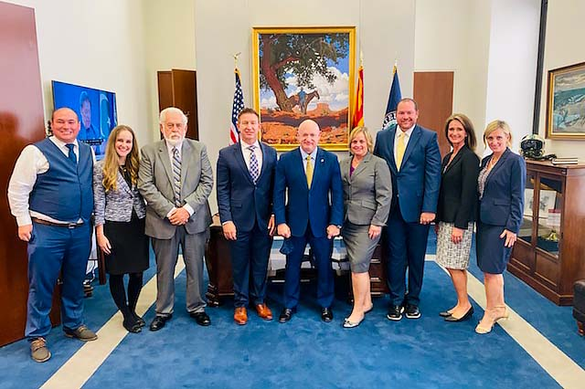 Vice Mayor Duffy with members of Congress in Washington D.C.